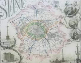 Seine Paris Map P-30