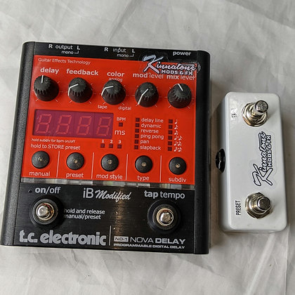 Mod service for TC ELECTRONIC NOVA DELAY TAP & PRESET switch