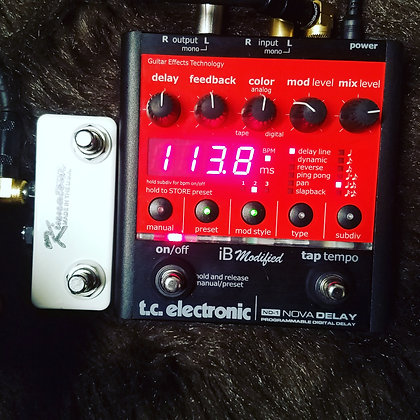 Mod service for TC ELECTRONIC NOVA DELAY TAP & PRESET switch