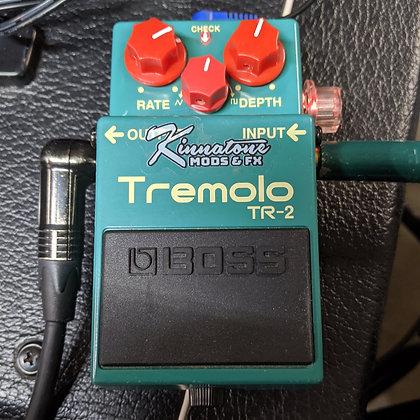 BOSS TR-2 Tremolo Pedal volume UNITY Boost mod