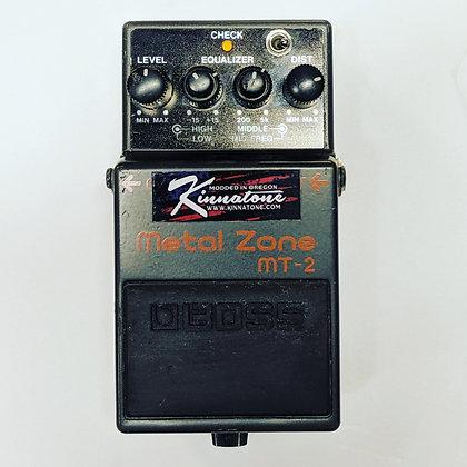 BOSS METAL ZONE MT2 BLACK MIDNIGHT MOD