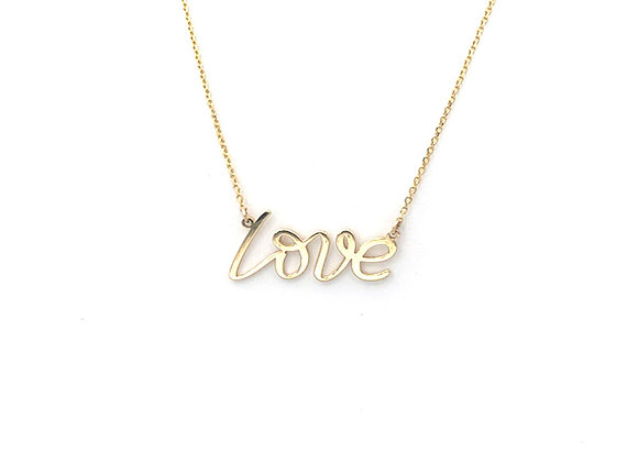 "14K ""Love"" Necklace"