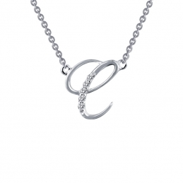 Initial C Pendant Necklace