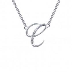 Initial C Pendant Necklace