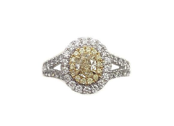 18K Two-Toned White & Yellow Diamond Ring