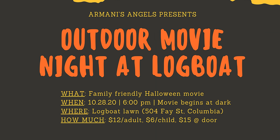 Outdoor movie at Logboat!