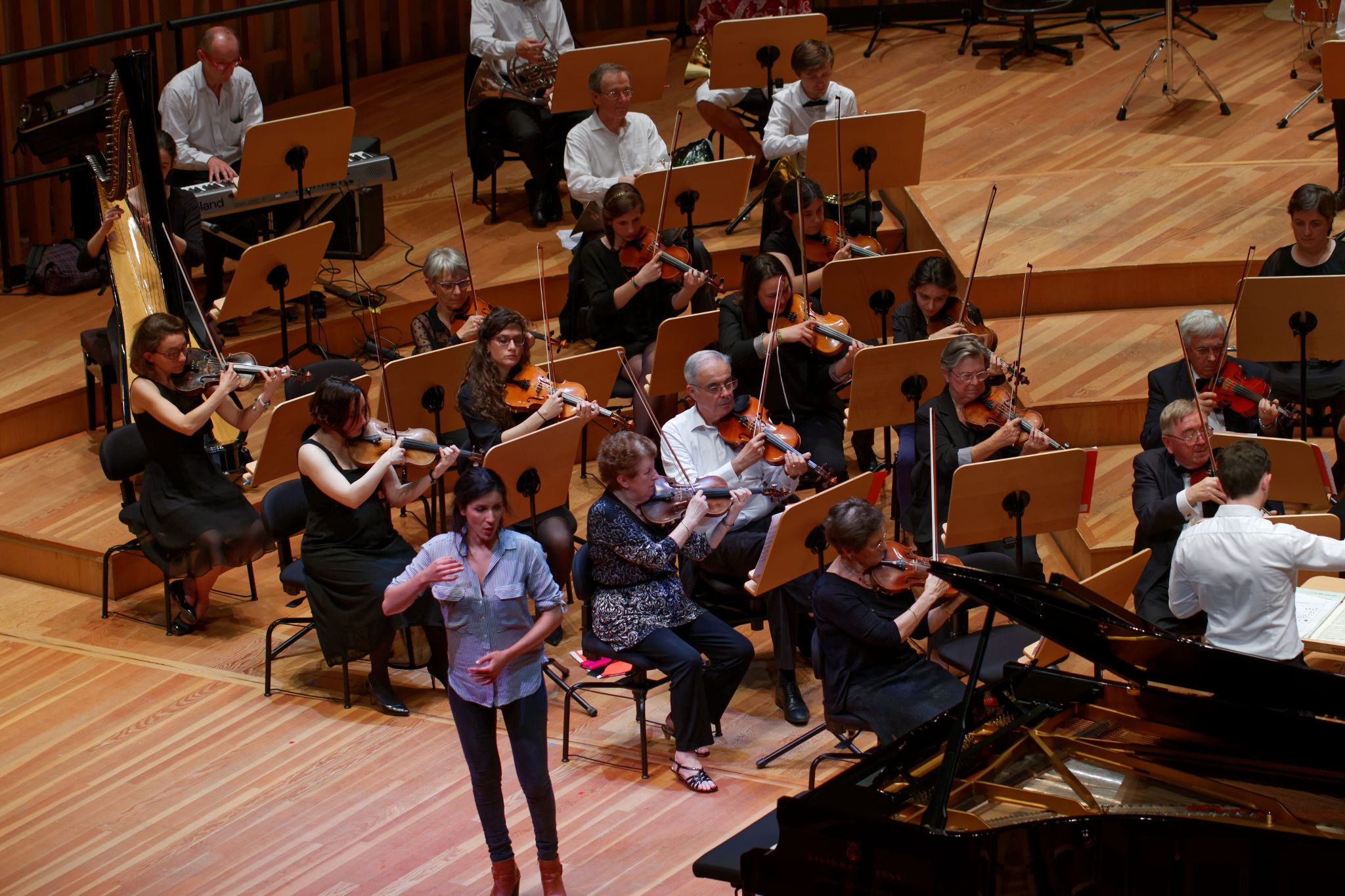 Récital d'Opéra, Répétition