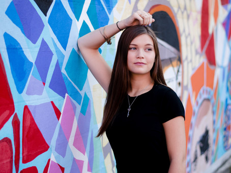 Rory   Bright and Fun Golden Hour Senior Session
