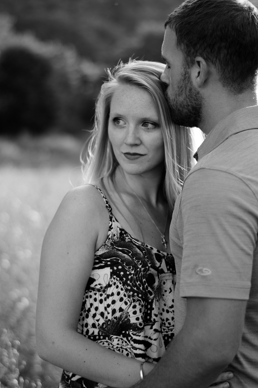black and white, Engagement session, rustic, fun, wedding photographer