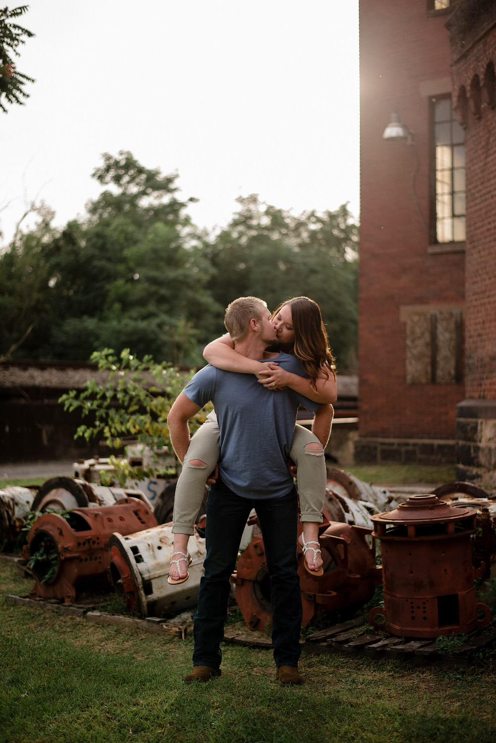 rustic Pennsylvania engagement session
