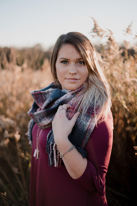 fall senior portraits in central pennsylvania