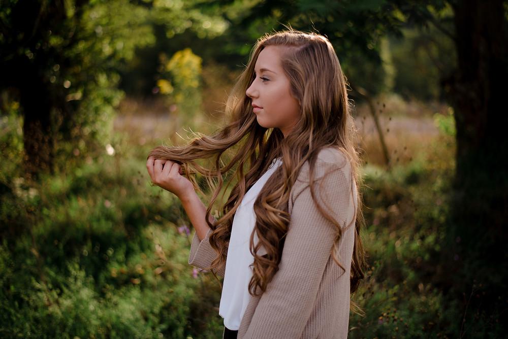 outdoor, green, fall, summer Central PA senior photographer
