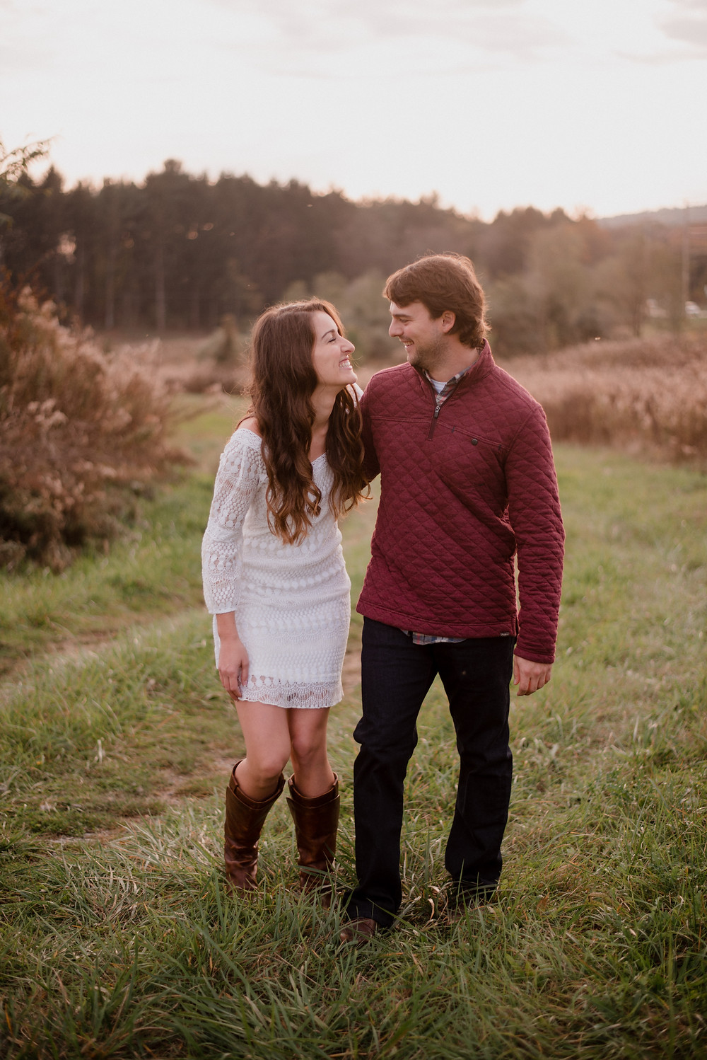 fall engagement session in Huntingdon PA