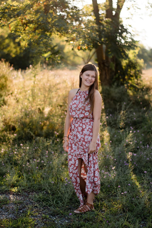 Bright senior session, senior portrait photographer, Juniata County