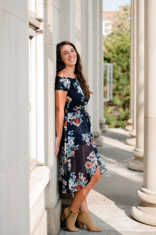 Senior Portrait, Senior portrait photographer, floral dress