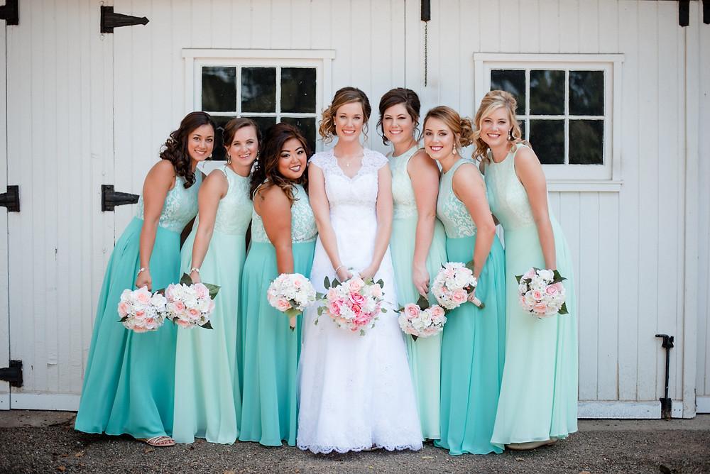 bridal party, collegeville wedding photographer