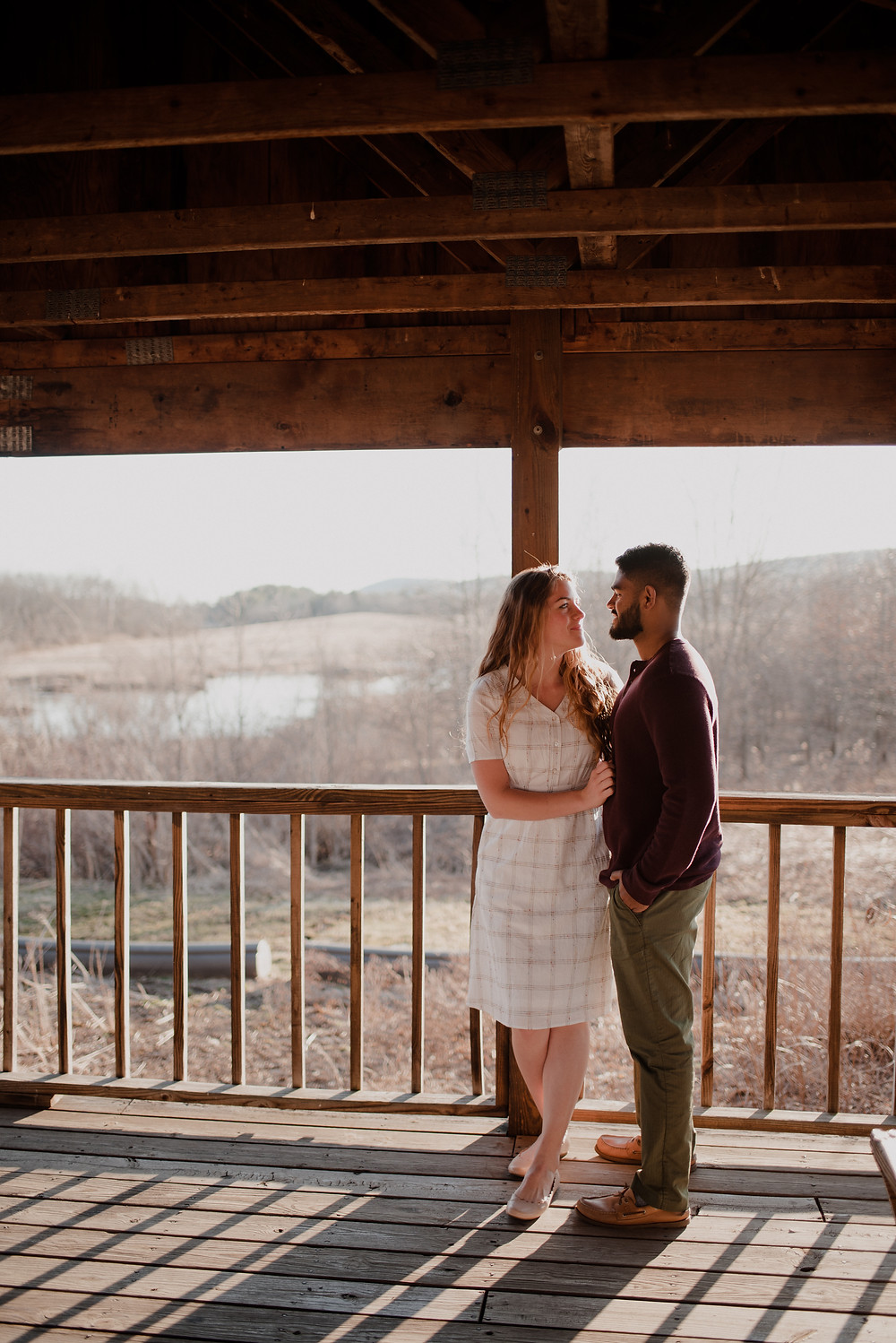 rustic romantic engagement photo PA