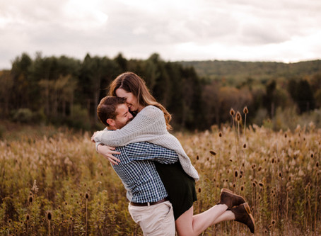Aaron and Genevieve | Fall Engagement Session | Allegheny Mountains, Pennsylvania