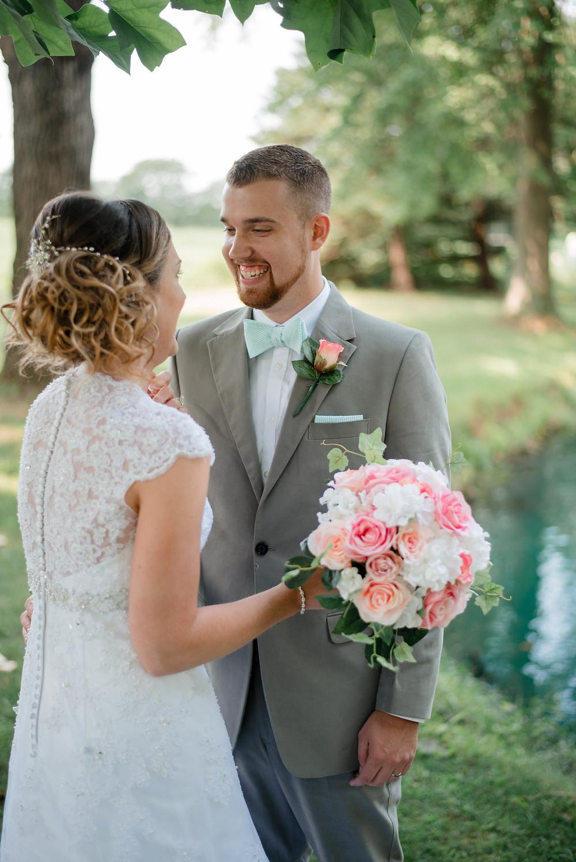 first look, collegeville wedding photographer