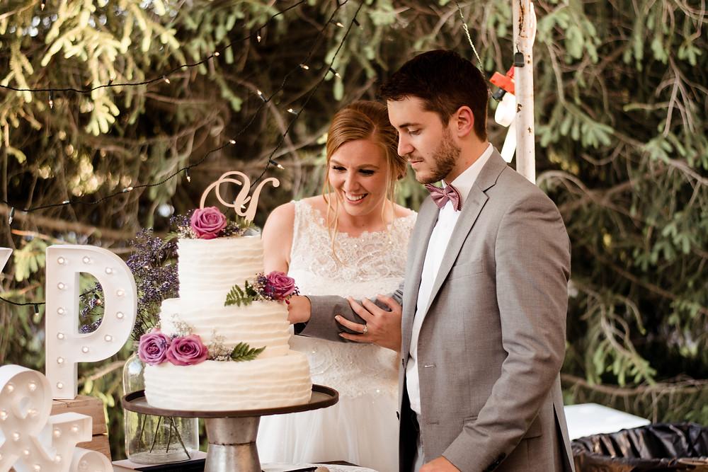 cutting the cake, wedding photographer, wedding cake