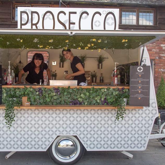 mobile prosecco caravan bar