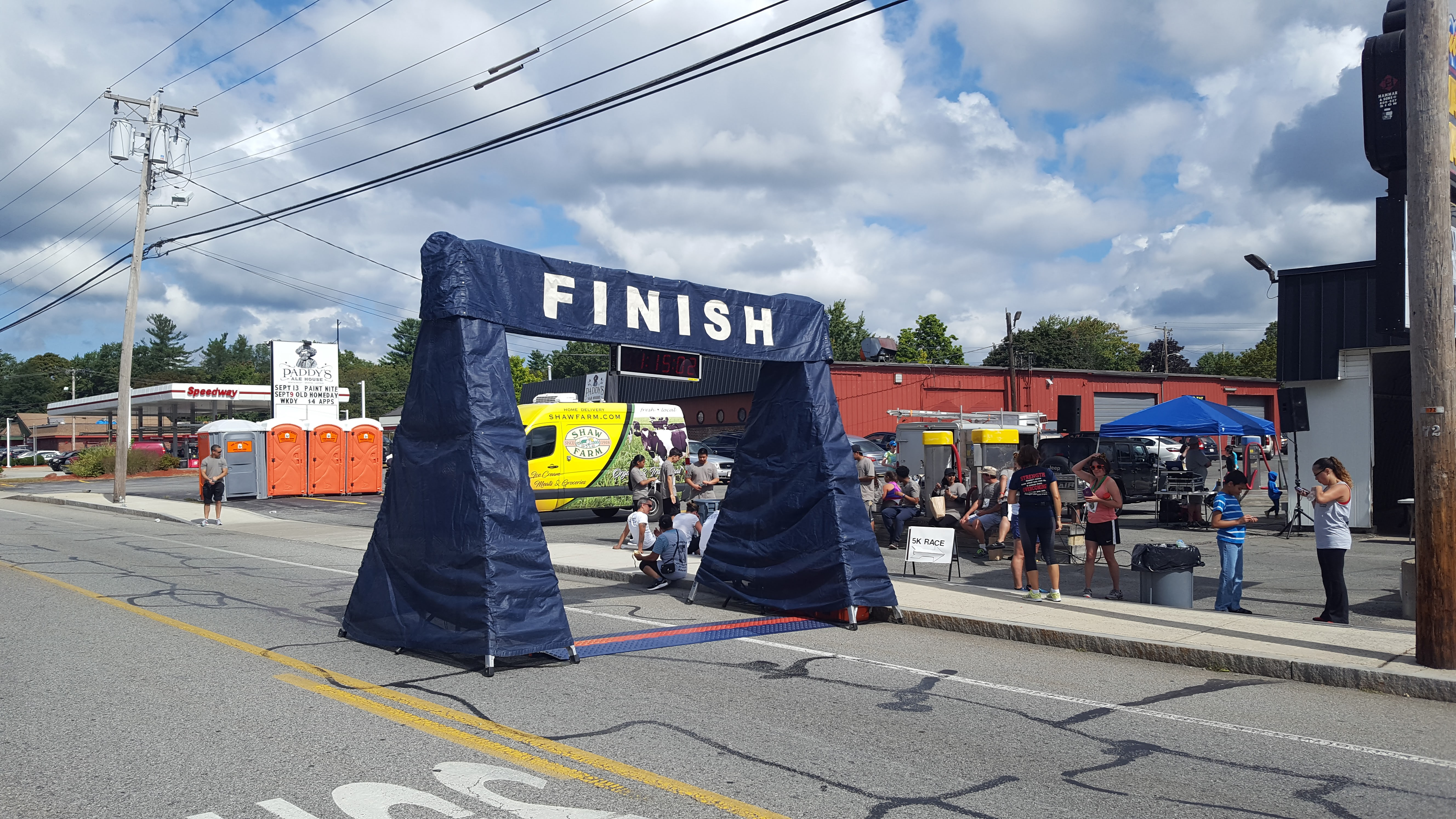Dracut 5k Walk/Run Finish Line