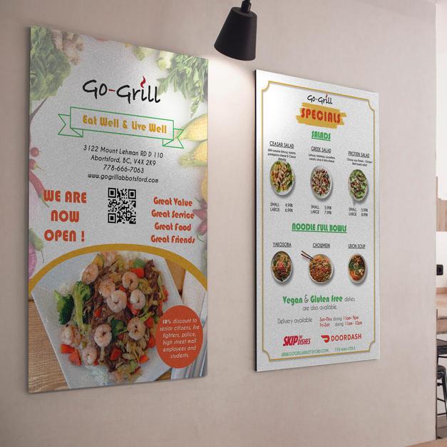 Menu Card Design - Go-Grill