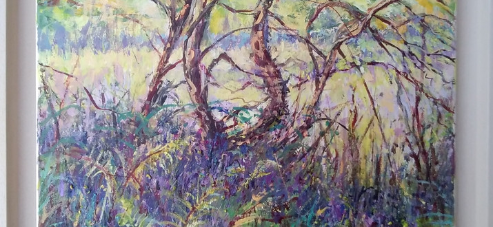 Twisted Tree With Bluebells