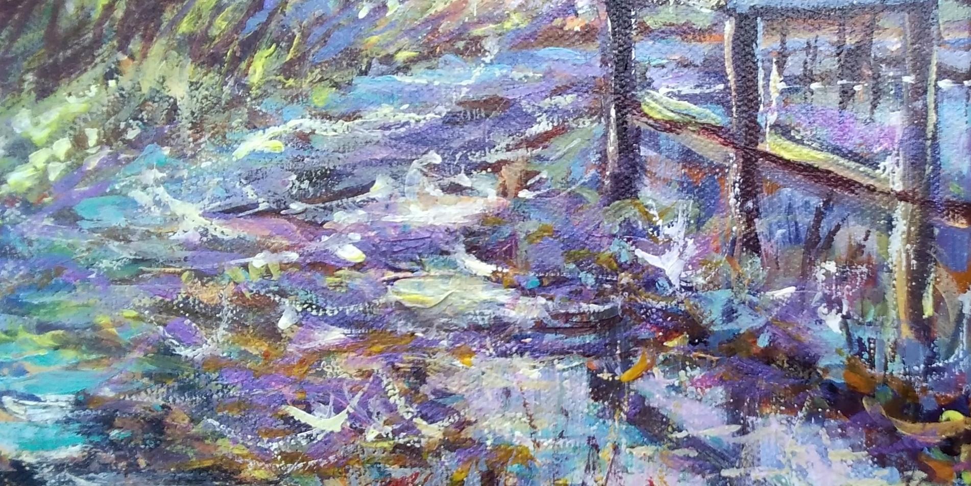 Wet Lane Acrylic 20 x20