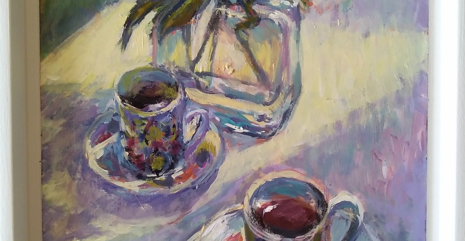 The Best Cups.Framed Acrylic on Board. 46 x 36