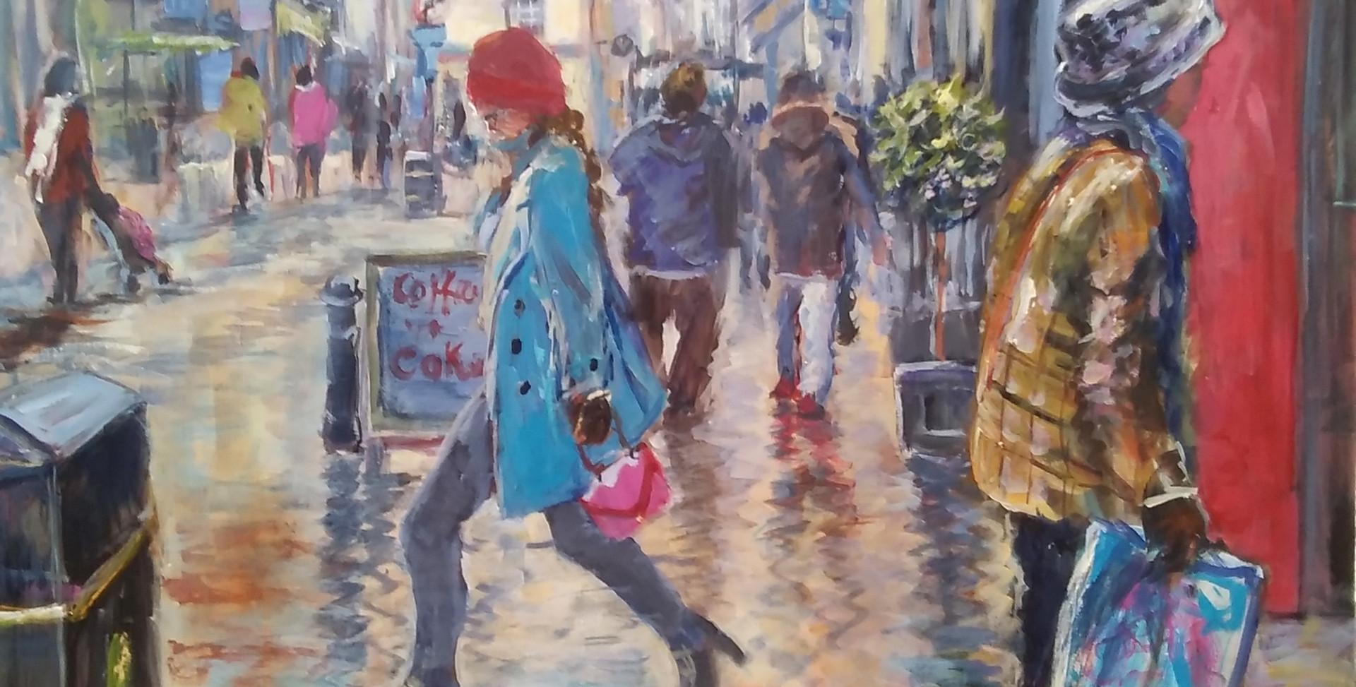 Girl In Blue Coat.