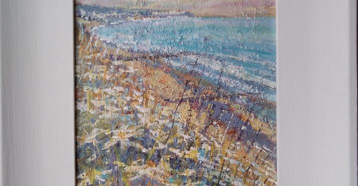 Shanklin Bay. Franed Acrylic on Board. 56 x 29