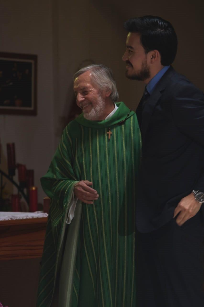 Los actores Jaime Bonelli y Daniel Gutiérrez. Fotografía de David Ibarra