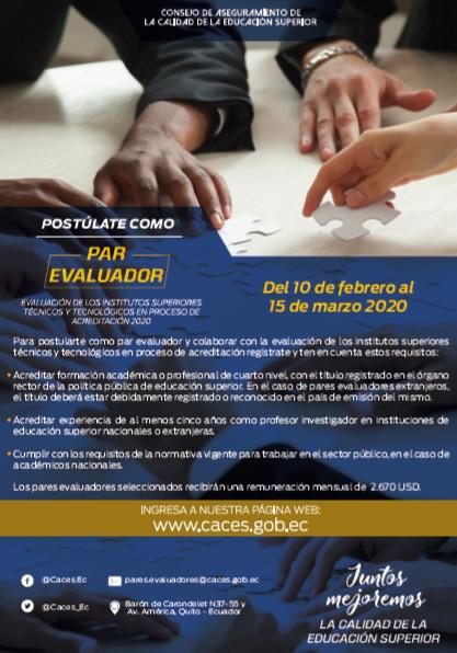 Postulaciones pares evaluadores 2020 CACES