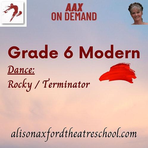 Grade 6 Modern - 9th Video - Dance Terminator/Rocky