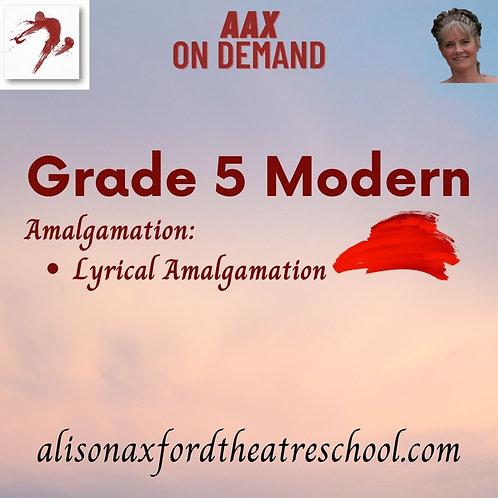 Grade 5 Modern - 8th Video - Girls Lyrical Amalgamation
