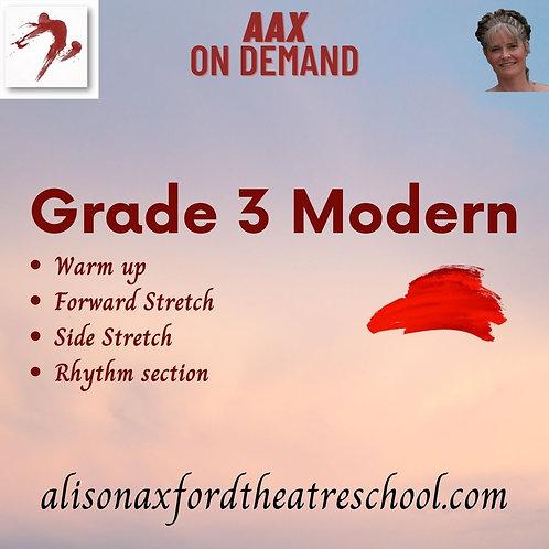 Grade 3 Modern - 1st Video