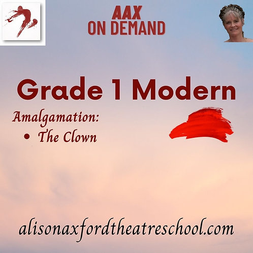 Grade 1 Modern - 6th Video - Clown Amalgamation