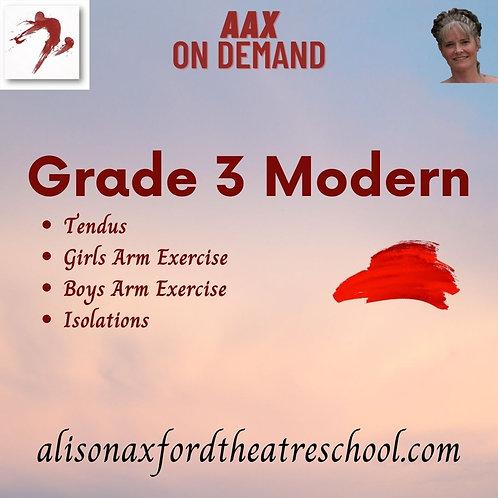 Grade 3 Modern - 3rd Video