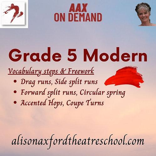 Grade 5 Modern - 6th Video - Vocab steps and Freework