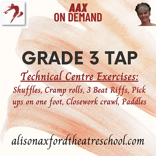 Grade 3 Tap - 2 - Centre Exercises Video