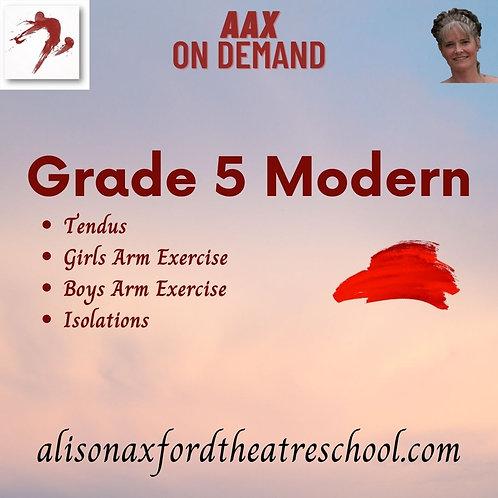Grade 5 Modern - 4th Video
