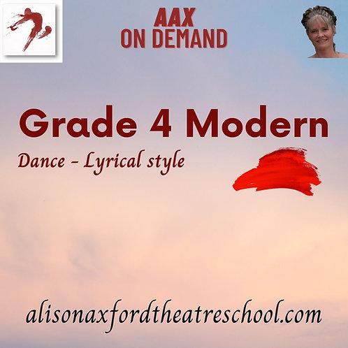Grade 4 Modern - 10th Video - The Dance