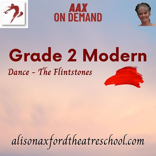 Grade 2 Modern - 9th Video - The Flintstones Dance