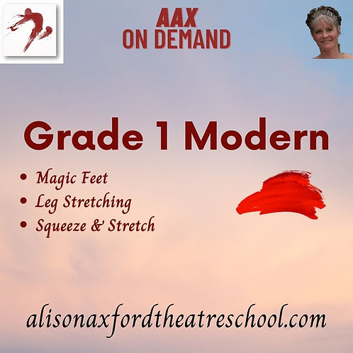 Grade 1 Modern - 2nd Video (Floorwork)