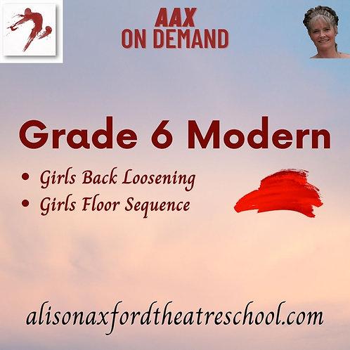 Grade 6 Modern - 2nd Video - GIRLS work