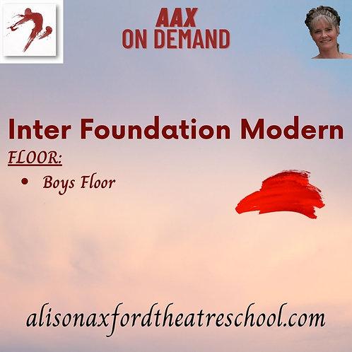 Inter Foundation Modern - 3rd Video - Boys Floor Sequence