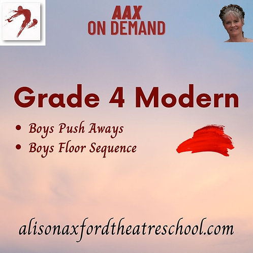 Grade 4 Modern - 3rd Video - BOYS work
