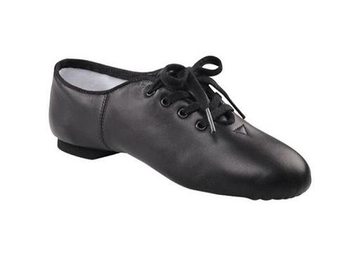 Split sole Black Leather Jazz Shoe