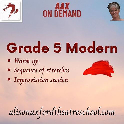 Grade 5 Modern - 1st Video